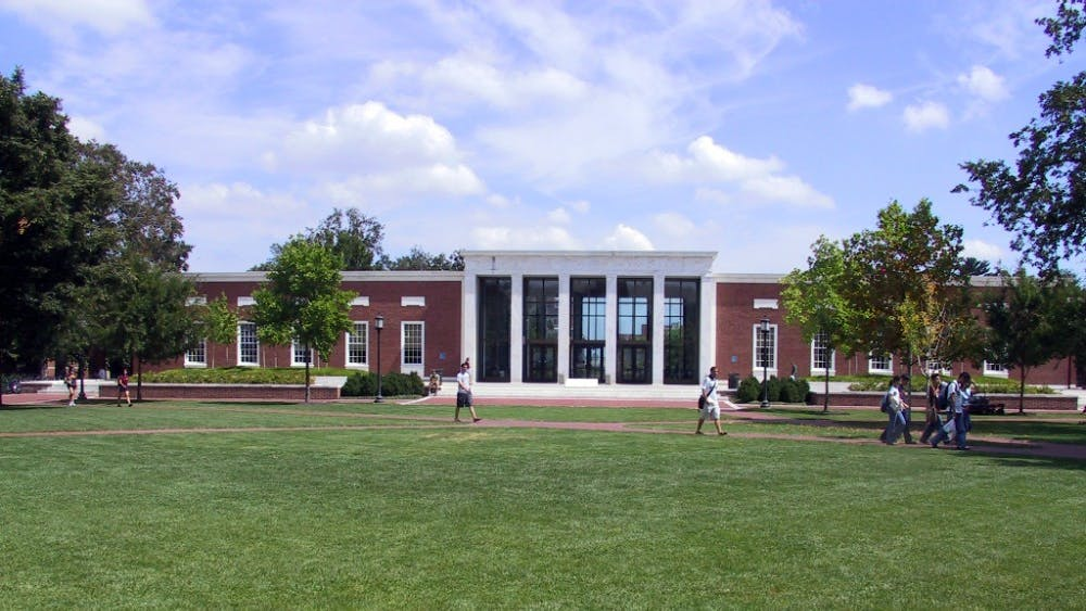 RDSMITH4 / CC BY.SA 2.5 Milton S. Eisenhower Library, a space frequented by workaholic JHU students.