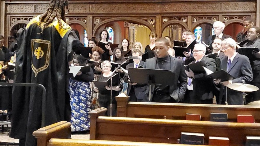 COURTESY OF MELANIE HINES The Urban Choral Arts Society featured 16-year-old Mekai Hines as a soloist.