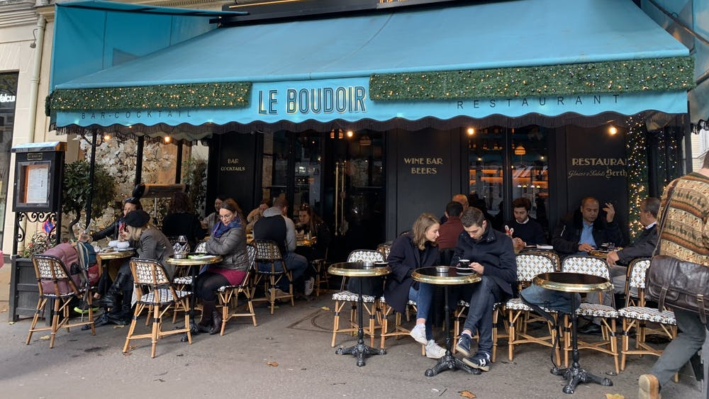 COURTESY OF KATY WILNER Wilner has had a few awkward encounters in Parisian coffee shops.