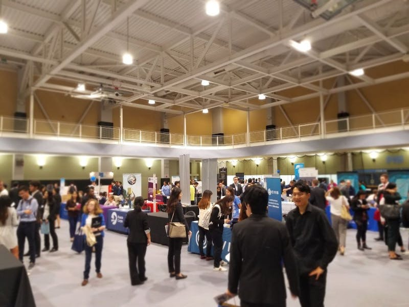 COURTESY OF JORDAN BRITTON The Career Center's Fall Career Fair featured the magazine The Atlantic for the first time.