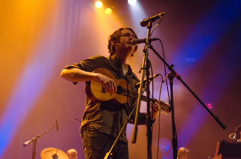 Courtesy of Jennifer BAIK Balkan-folk-inspired indie rock band Beirut played a strong set at the Ottobar this past weekend.