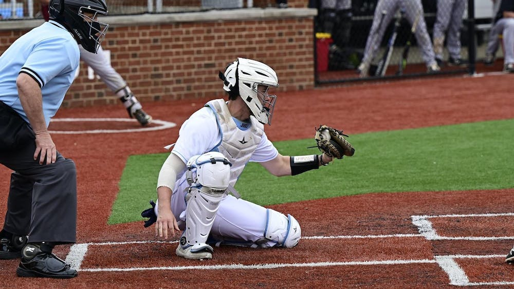 COURTESY OF HOPKINSSPORTS.COM The Hopkins baseball team faced the Gettysburg College Bullets in a pair of games on April 17, winning both by huge margins.