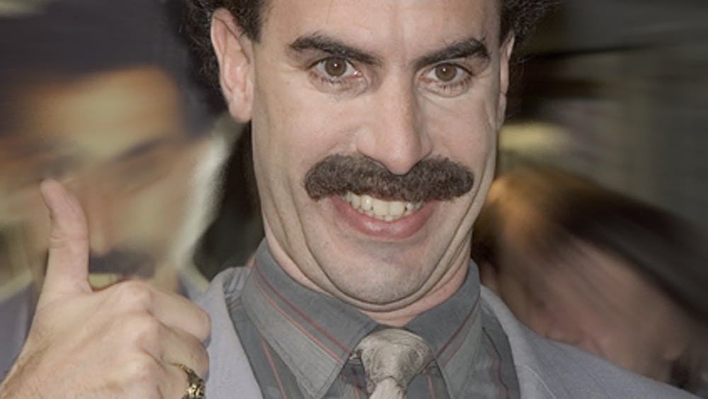 SKSSOFT / CC BY 2.5 Sacha Baron Cohen stars as Borat in the new sequel to the 2006 film.