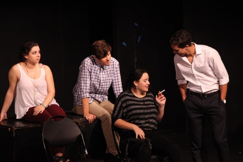 "LEON SANTHAKUMAR / PHOTO EDITOR Freshmen Barnstormers performed ""Long Island Iced Tea"" under the direction of upperclassmen."