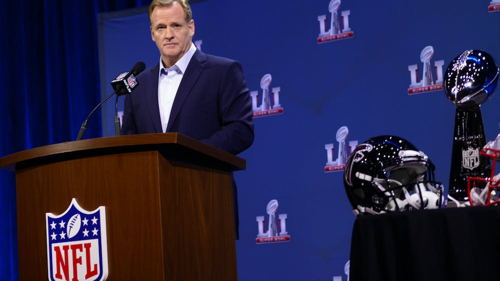"""SAM BENSON SMITH/CC BY 2.0 Commissioner Roger Goodell tried to spin the changes as an """"enhancement"""" to the schedule."""