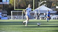 HOPKINSSPORTS.COM Senior Maddy Rocks totaled one goal and one assist in strong showing.
