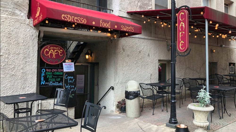 COURTESY OF SARAH Y. KIM Despite lessened restrictions in Baltimore, Carma's Cafe will not provide indoor seating due to its small size.