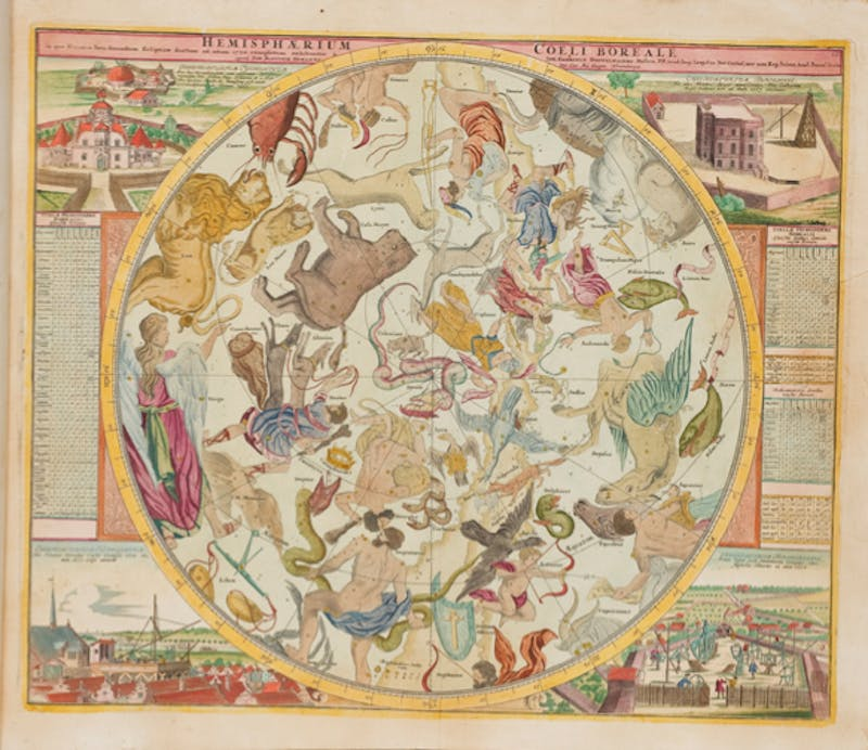 COURTESY OF EARLE HAVENS Johann Dopplemayr's Atlas Coelestis from the Special Collections.