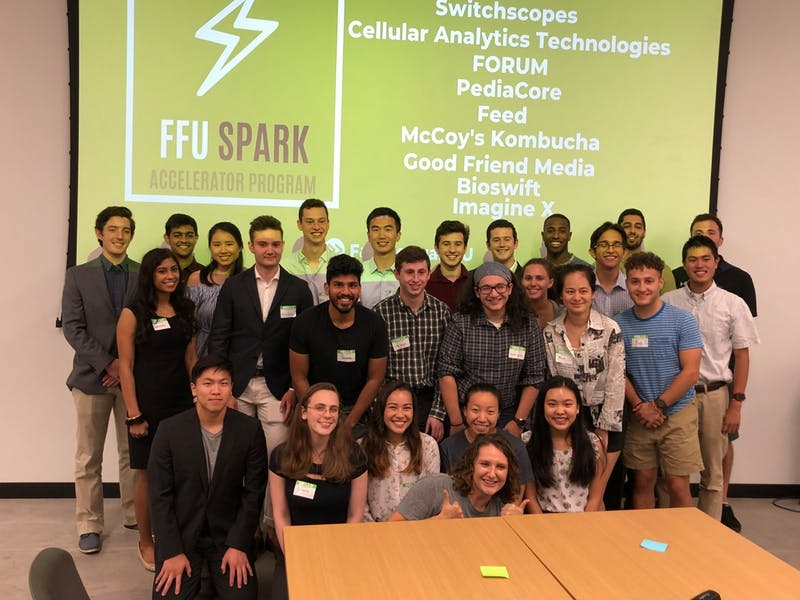 COURTESY OF PAVA LAPERE The FastForward U Spark program is for early-stage student ventures.