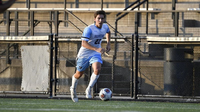 HOPKINSSPORTS.COM Connor Jacobs' opening goal in the 43rd minute was his first of the year.