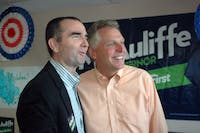 CC BY-SA 2.0/EDWARD KIMMEL Ralph Northam (left) of Virginia was one of many Democrats who won elections last week.