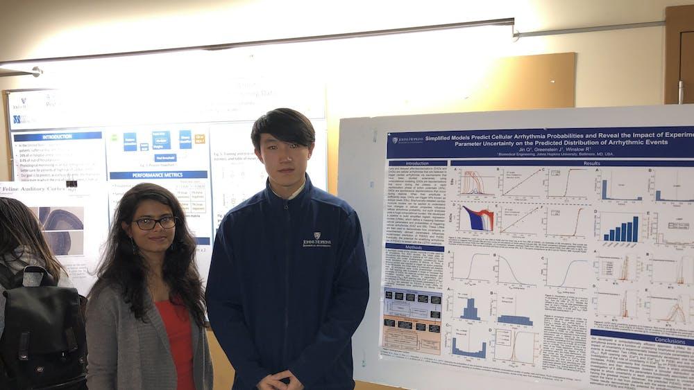 COURTESY OF LAKSHAY SOOD Jin uses statistics to model heartbeat irregularities.