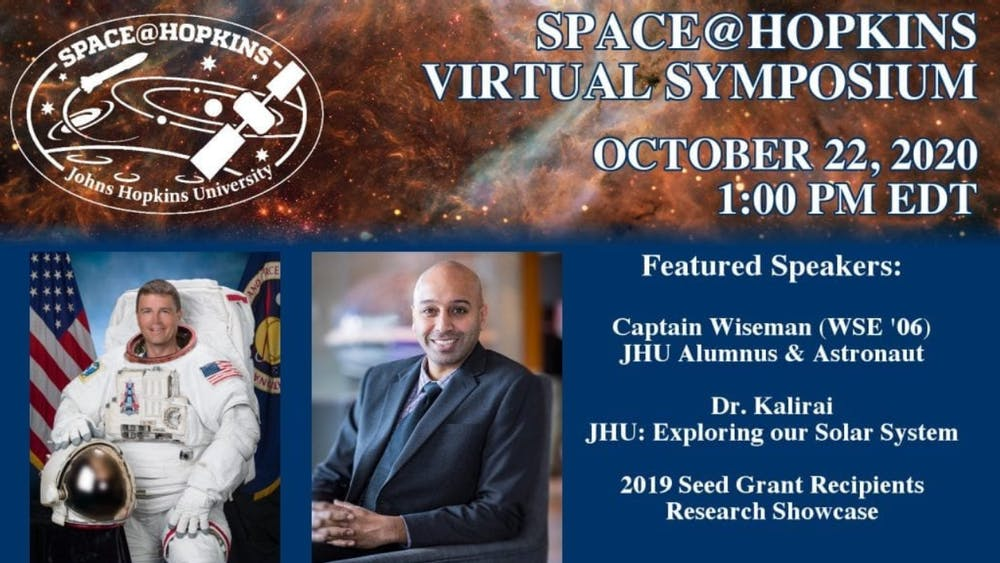 COURTESY OF JOHNS HOPKINS UNIVERSITY Topics at the Space@Hopkins Virtual Symposium ranged from heliophysics to astrobiology.