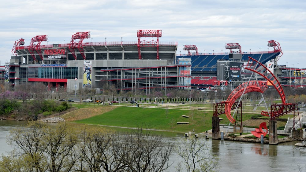 PAUL BRENNAN / CC-BY-SA Nissan Stadium, home of the Tennessee Titans, did not see the matchup between the Titans and the Pittsburgh Steelers due to a cluster of COVID-19 cases.