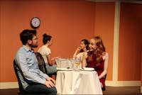"COURTESY OF WITNESS THEATER Sam Cox and Becky Shade in the first play of the showcase, ""First Date?"""