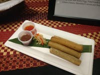 COURTESY OF JESSE WU Lumpia, a Filipino dish served by Chef Rey Eugenio at his new pop-up.