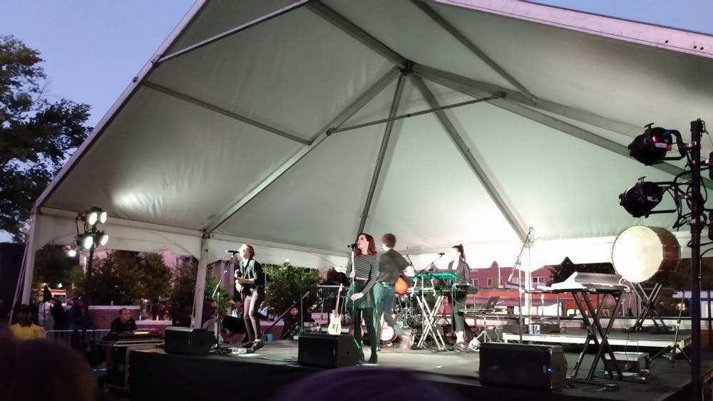 "COURTESY OF CLAIRE GOUDREAU Echosmith performed at Jamtoberfest this year and closed the concert with ""Cool Kids."""