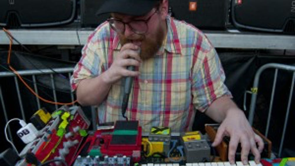 COURTESY OFWEE OOO / cc by -sa 2.0 Baltimore-based artist Dan Deacon served as DJ for half of the night.