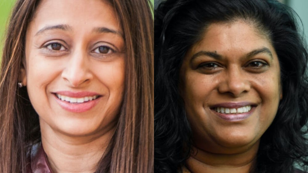 COURTESY OF NILOFER AZAD AND ASHANI WEERARATNA Hopkins scientists Azad (left) and Weeraratna (right) discuss their careers thus far.