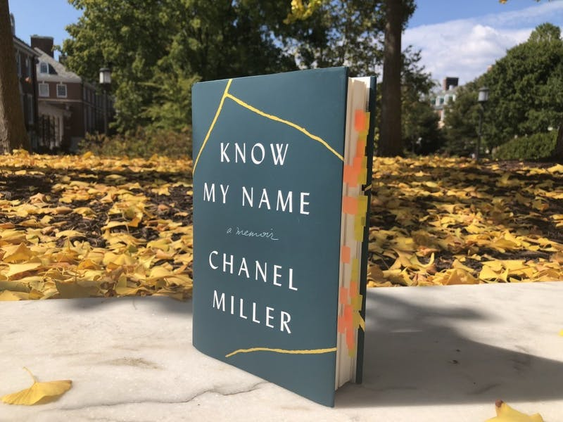 COURTESY OF RUDY MALCOM  Parekh ran out of sticky notes while marking her favorite parts of Chanel Miller's book.