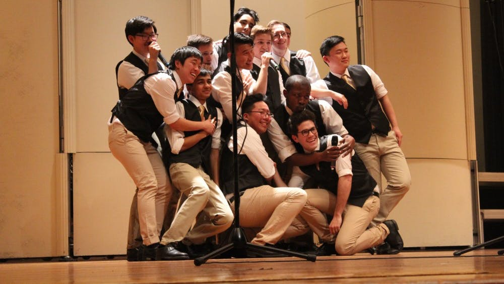 Cindy Jiang/photography staff Multiple a cappella groups performed at Shriver Hall on Feb. 20 in the ICCA Mid-Atlantic Quarter-Finals.