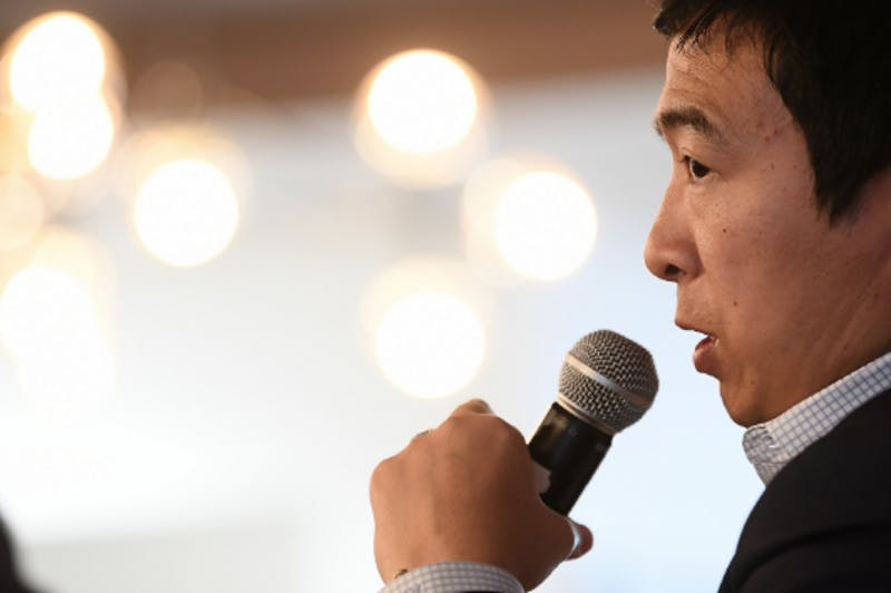 STEPHEN MCCARTHY / CC BY 2.0  Noting the rise of Asian politicians like Andrew Yang, Fang hopes Asian-Americans will play a greater role in shaping U.S. politics.