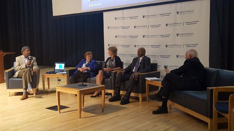 COURTESY OF IMANI WEST The panelists at the symposium discussed various political movements from 1968 to 2018.
