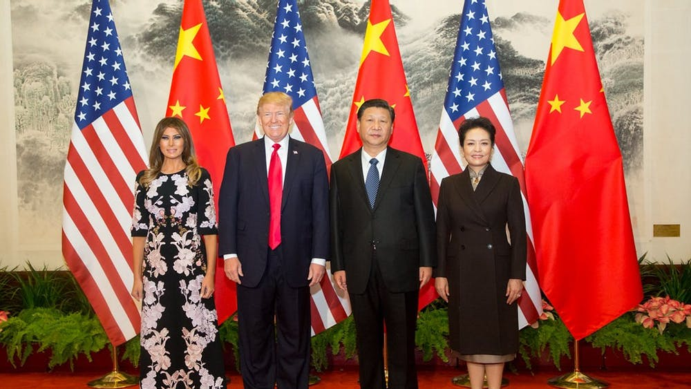 PUBLIC DOMAIN / OFFICIAL WHITE HOUSE PHOTO Tie considers the impact of growing tension between the U.S.and China on the Hopkins community.