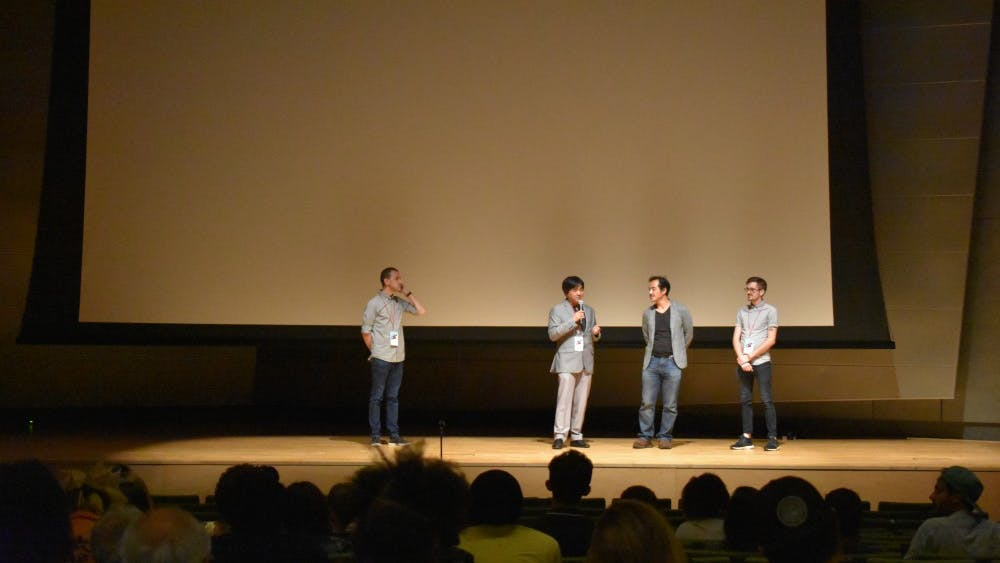 Courtesy of Katy Oh Speakers on stage at MICA discussed their films and those of others.