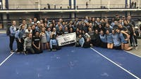 COURTESY OF HOPKINSSPORTS.COM  The women's track and field team won its ninth straight Centennial Conference Indoor Track and Field Championship title.