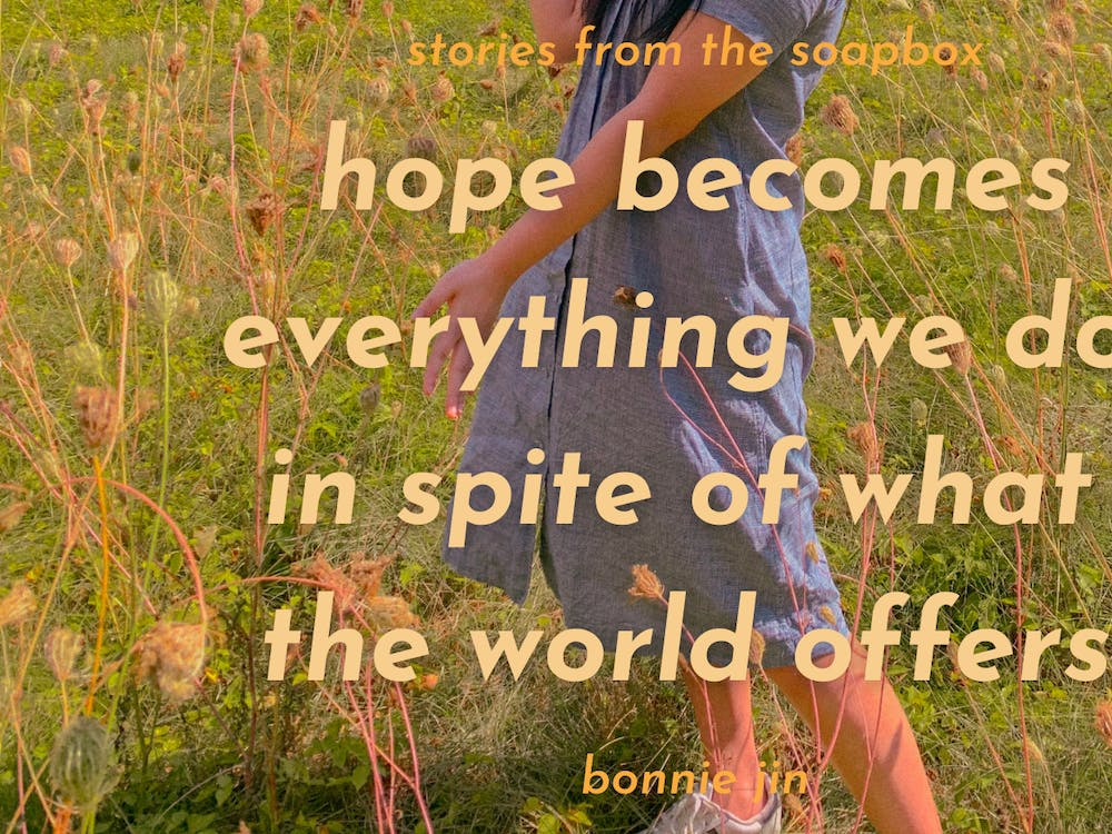 COURTESY OF BONNIE JIN  Jin discusses the importance of optimism in her life.