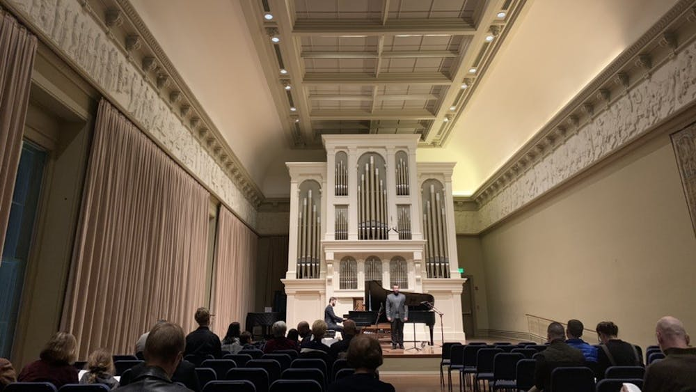 COURTESY OF EUNICE PARK Tomasz Robak performed accompaniment for Beethoven and Schumman at Griswold Hall.