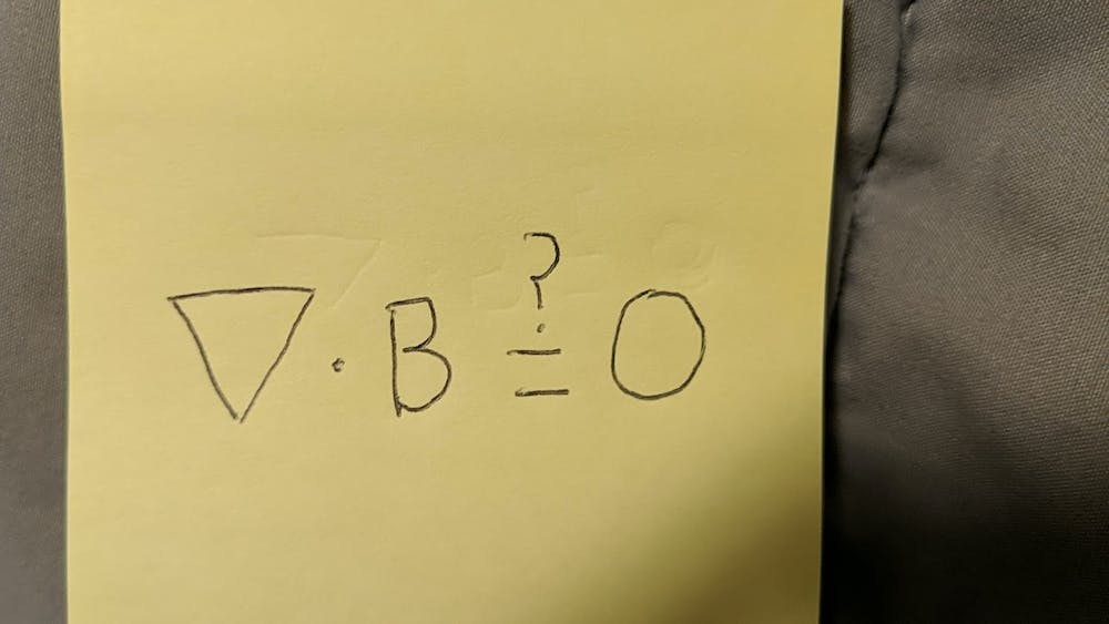 COURTESY OF ZUBIA HASAN Hasan details the beauty she sees in physics, specifically in Maxwell's equation.