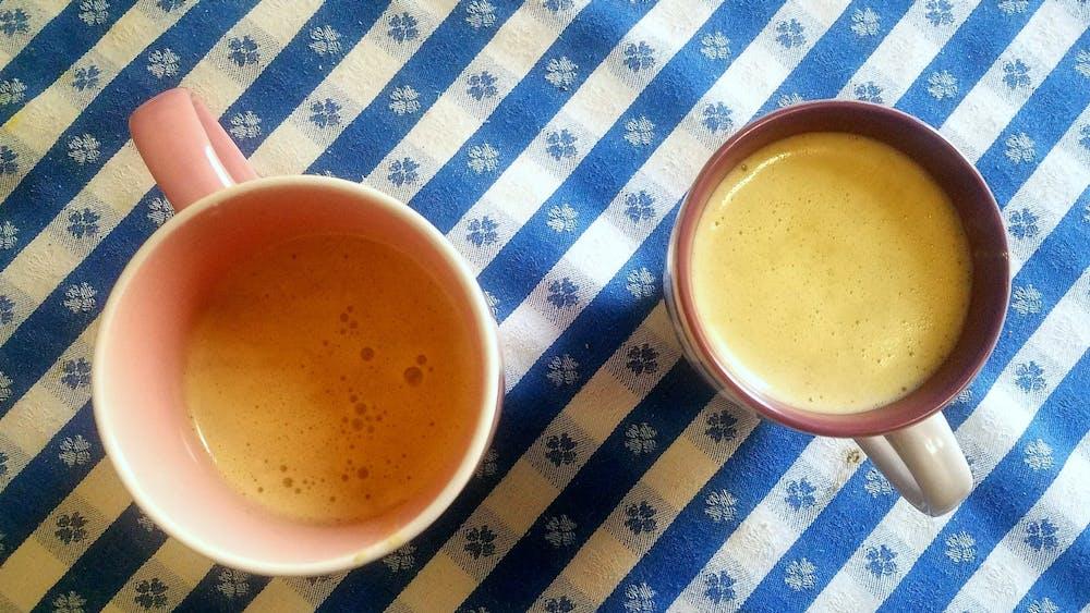 COURTESY OF SOPHIA LOLA Lola recently tried making Vietnamese egg coffee.