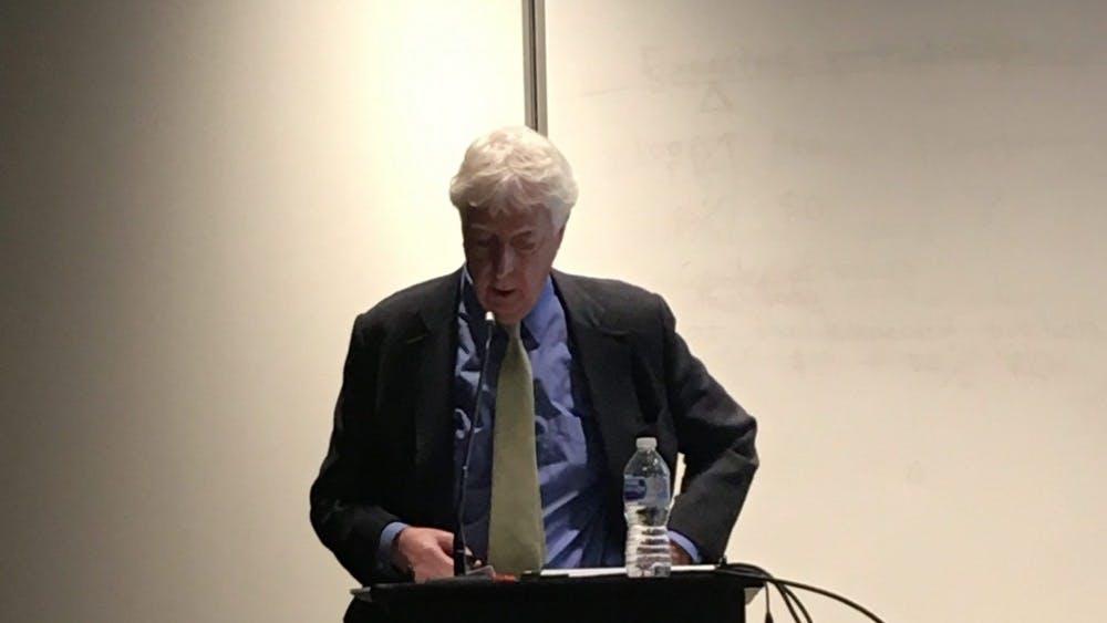 COURTESY OF ALYSSA WOODEN  Visiting professor Jonathan Cole talked modern undergraduate education.