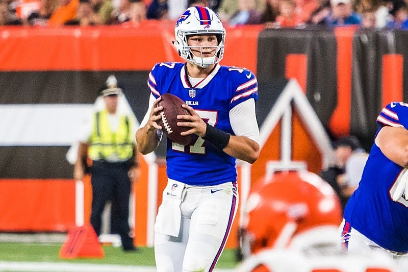 ERIK DROST/CC BY 2.0 Josh Allen should have been the Bills week one starter at quarterback.
