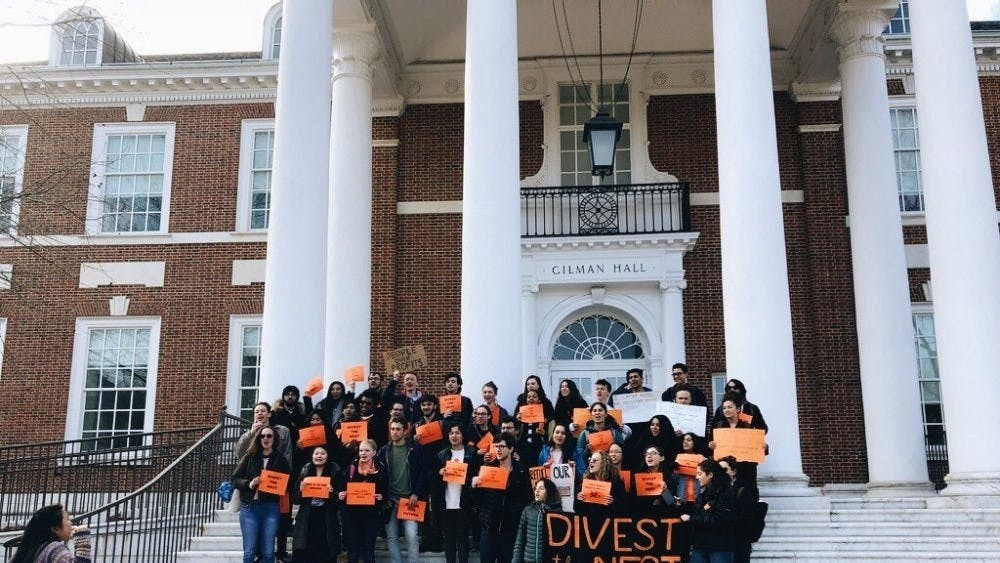 FILE PHOTO  Student activist group Refuel Our Future has been pushing for fossil fuel divestment for years.