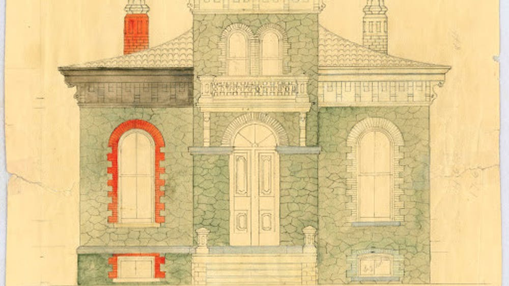 COURTESY OF THE UNIVERSITY ARCHIVES — SHERIDAN LIBRARIES The Gatehouse was designed in an Italianate style.