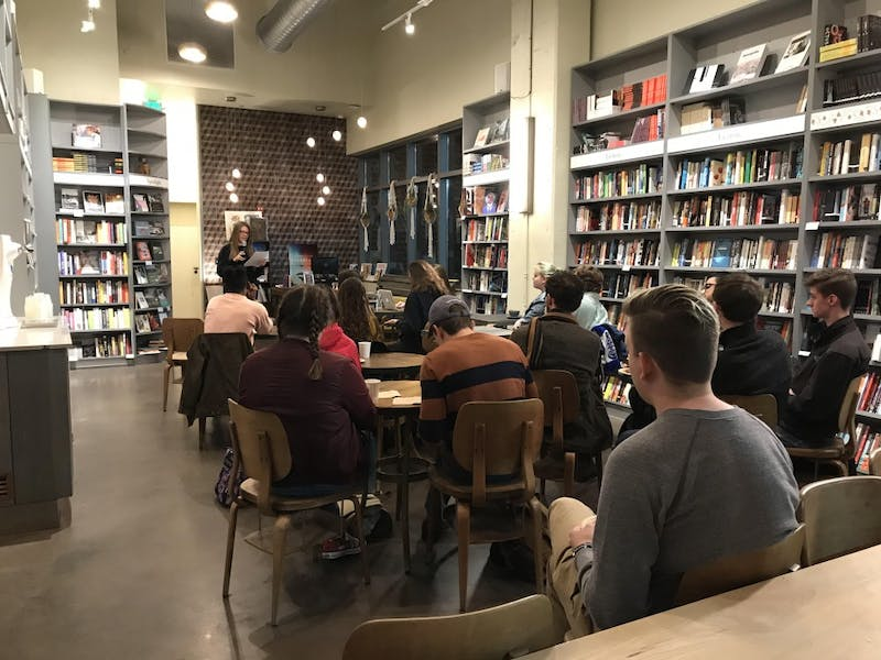 COURTESY OF THE AUTHOR J. Magazine held their fall reading at Bird in Hand Cafe in Charles Village.