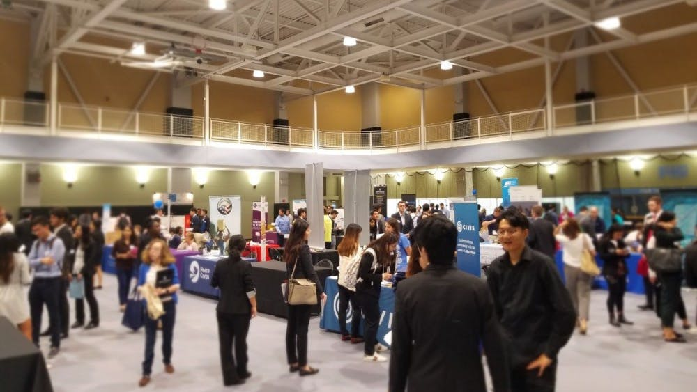 FILE PHOTO The career fair in fall 2018 featured over 115 employers.