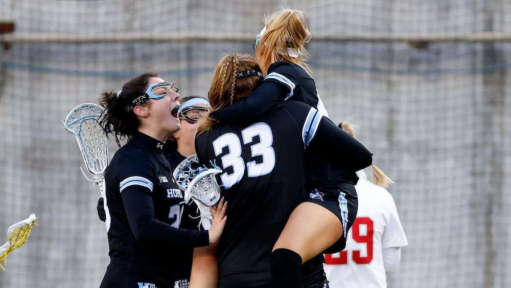 COURTESY OF HOPKINSSPORTS.COM After starting out 0-3, the women's lacrosse team desperately needed these wins against Ohio State.