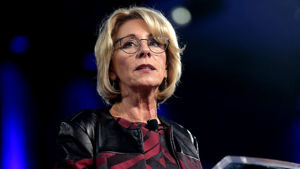 GAGE SKIDMORE/CC BY-SA 2.0 U.S. Secretary of Education Betsy DeVos has faced criticism for her recently released final guidelines.