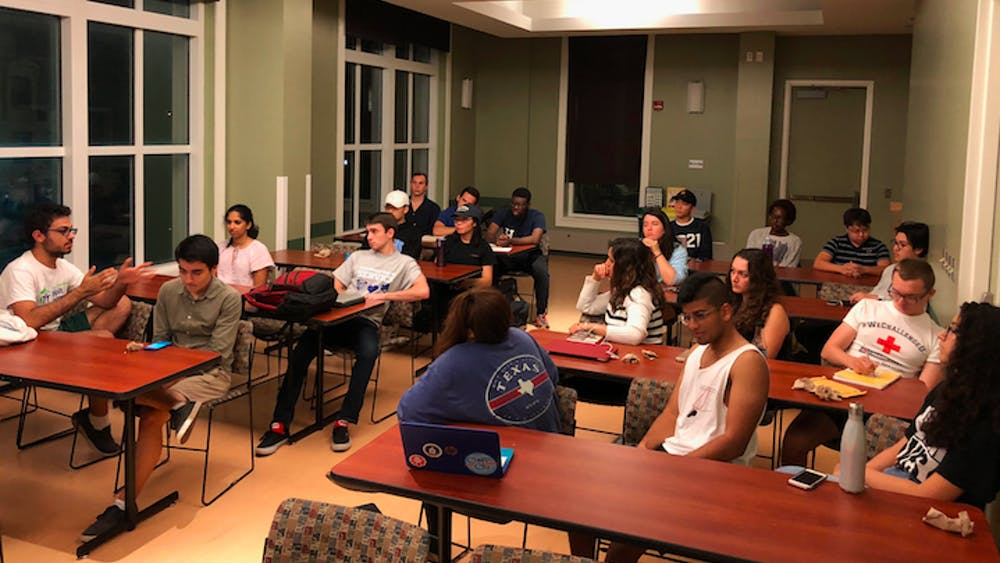 COURTESY OF LIAM HAVIV After athlete protests, students discussed the role of activism in sports.
