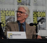 aitchisons/cc by 2.0 Ted Danson plays Michael, an architect of afterlife neighborhoods, in The Good Place.