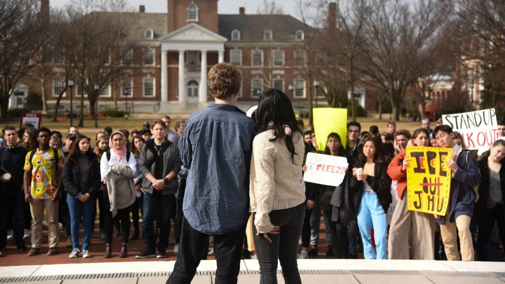 STEPHANIE LEE / PHOTOGRAPHY STAFF  Students have called for the administration to end its contracts with ICE since 2018.