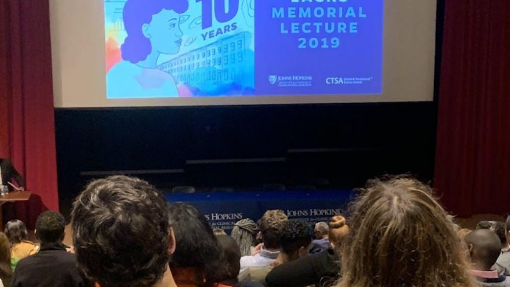 COURTESY OF WILLIAM BLAIR The descendants of Henrietta Lacks spoke at the 2019 Henrietta Lacks Memorial Lecture.