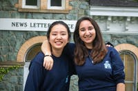 NEHA SANGANA/PHOTOGRAPHY EDITOR Editors-in-Chief Kim (left) and Isaacs (right) both joined The News-Letter as freshmen