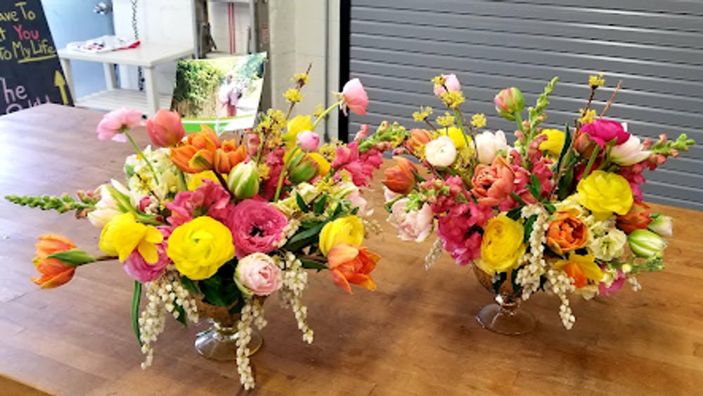 COURTESY OF NATALIE WU Local Color Flowers offers flower arranging classes and sells bouquets of locally-sourced flowers.