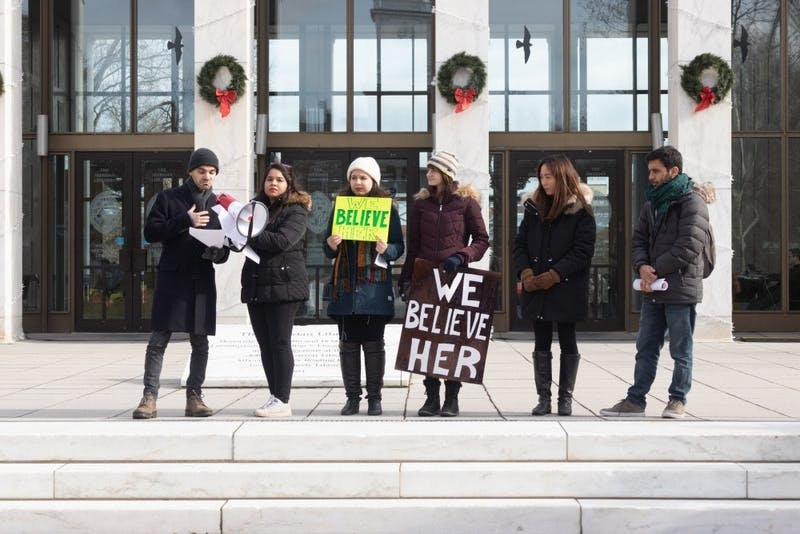 #JHToo members organized a protest at the end of this past semester.