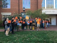 FILE PHOTO Students protested University fossil fuel investments in 2017. Now SGA asks whether students support divestment.